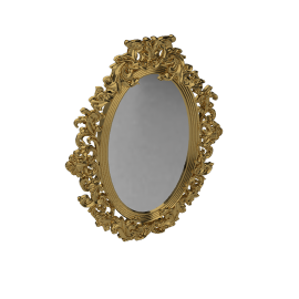 Eliza Mirror, H79 x W56cm, Gold