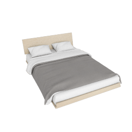 Nelson Thin Edge Full Bed, Ash