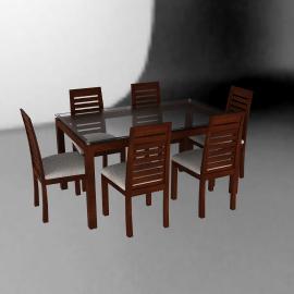 Basement Home Juego de comedor rectangular 6 sillas Capri