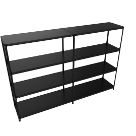 Steelwood Shelving System, Black, 4x2