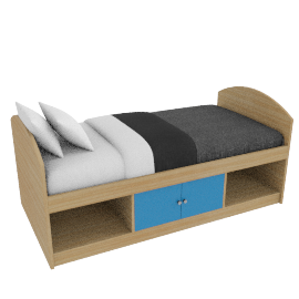 Corey Cabin Bed, Blue