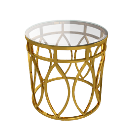 Roselyn End Table, Gold