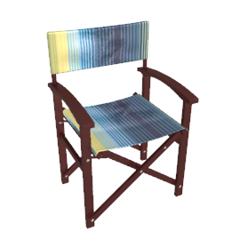 Nile Stripe Director's Garden Chair