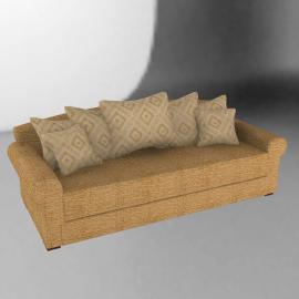 Ashley Grand Scatter Back Sofa, Gold
