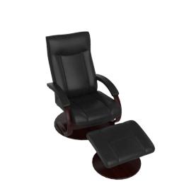 Gemini Recliner and Footstool, Black