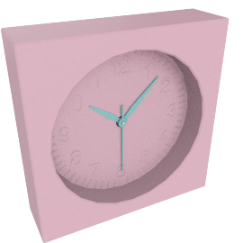 Addison Table Clock, Pink
