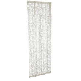Benaras Sheer Curtain Pair - 135x240 cms, Gold