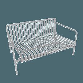 Palissade Dining Bench, Sky Grey