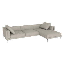 Como Sectional Right Chaise, Boucle Dove