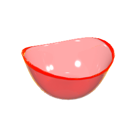 Large Acrylic Bowl, Red, Large