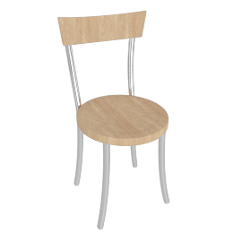 Vienna Chair, Chrome/Beech
