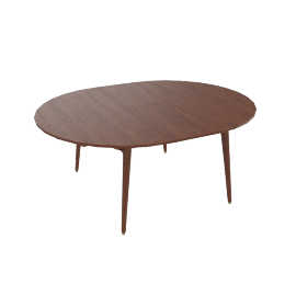 Odin Round Extension Table, extended