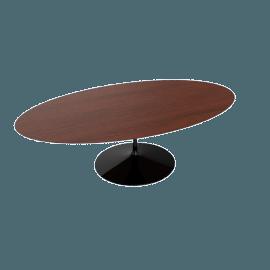 Saarinen Oval Dining Table 96'', Veneer - Black.Cherry