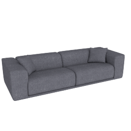Kelston 115'' Sofa, Fabric: Pebble Weave Pumice Pumice