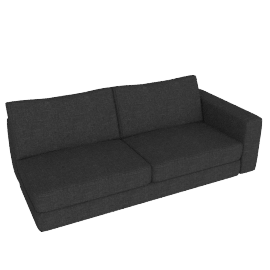 Reid One-Arm Sofa in Fabric, Right