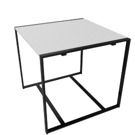 Matrix Coffee Table - Hg White/Gun Metal