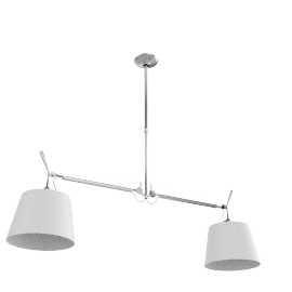 Tolomeo Double Suspension - 10 in. Parchment Shade