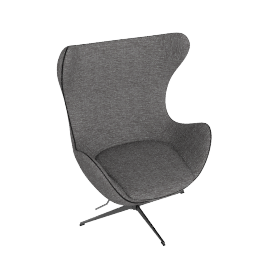 Egg Chair in Basel Fabric, black