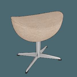 Egg™ Footstool - Fame Fabric - Stone