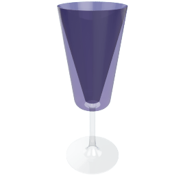 Acrylic Wine Glass, Purple