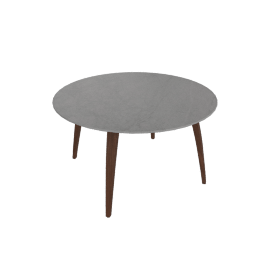Organic Round Table, Walnut