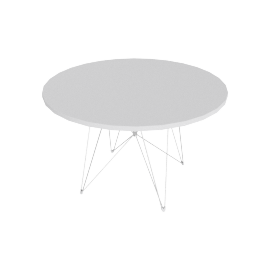 Magis Tavolo XZ3 Table, White/Chrome