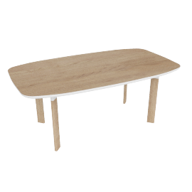Analog Dining Table, Oak