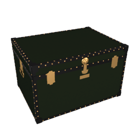 Traditional Jumbo Trunk, Green