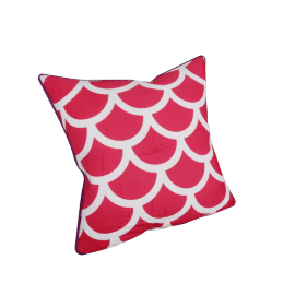Fresco Filled Cushion - 45x45 cms, Red