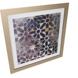 Geometric Flora Artist Framed Art - 80x1.6x80 cms