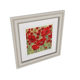 Catherine Stephenson - Abundant Poppies Framed Print, 50 x 50cm