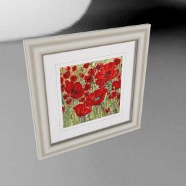 Catherine Stephenson - Abundant Poppies Framed Print, 50 x 50cm