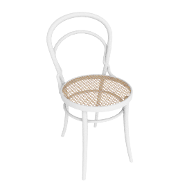 Era Chair with Cane - White