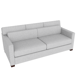 Vesper Queen Sleeper Sofa, Soft Weave Fabric, Smoke