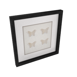 Butterfly Words Framed 3D Laser Cut, 24 x 24cm