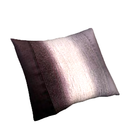 Haze Cushion, Grey / Fig