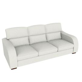 Granada Grand Leather Sofa, Oyster