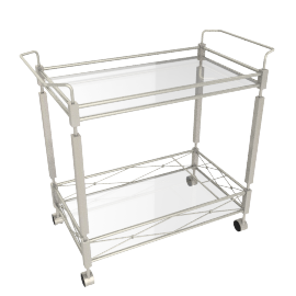 Bellagio Serving Trolley, Silver