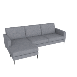 Brunel Corner Left Chaise, Murcia Grey