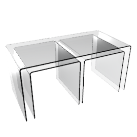 Ice Tables, Clear, Set of 2