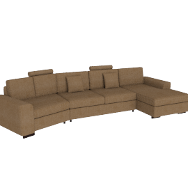 Askew Angle Corner Sofa Right