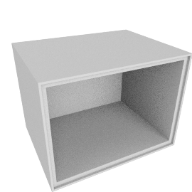 Forma Small Open Box, Light Grey