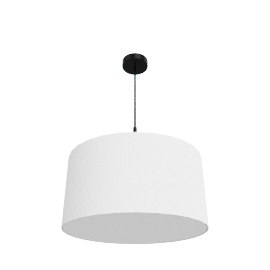 Pleat Drum Pendant, Black