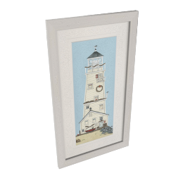 Sally Swannell- Light House II Framed Print, 38 x 68cm