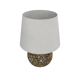Alya Resin Table Lamp 49Cmh - Brown