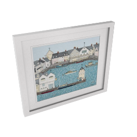 Sally Swannell- Harbour Framed Print, 55 x 66cm