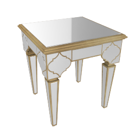 Casablanca End Table, champagne