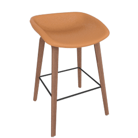 About A Stool 33 Counter Stool, CA 5011 Sand / Walnut