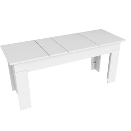 Lollygagger Picnic Bench, White