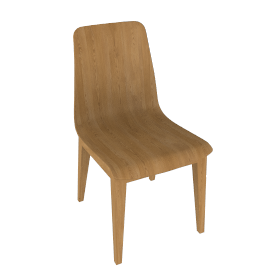 Bethan Gray for John Lewis Noah Oak Plywood Dining Chair
